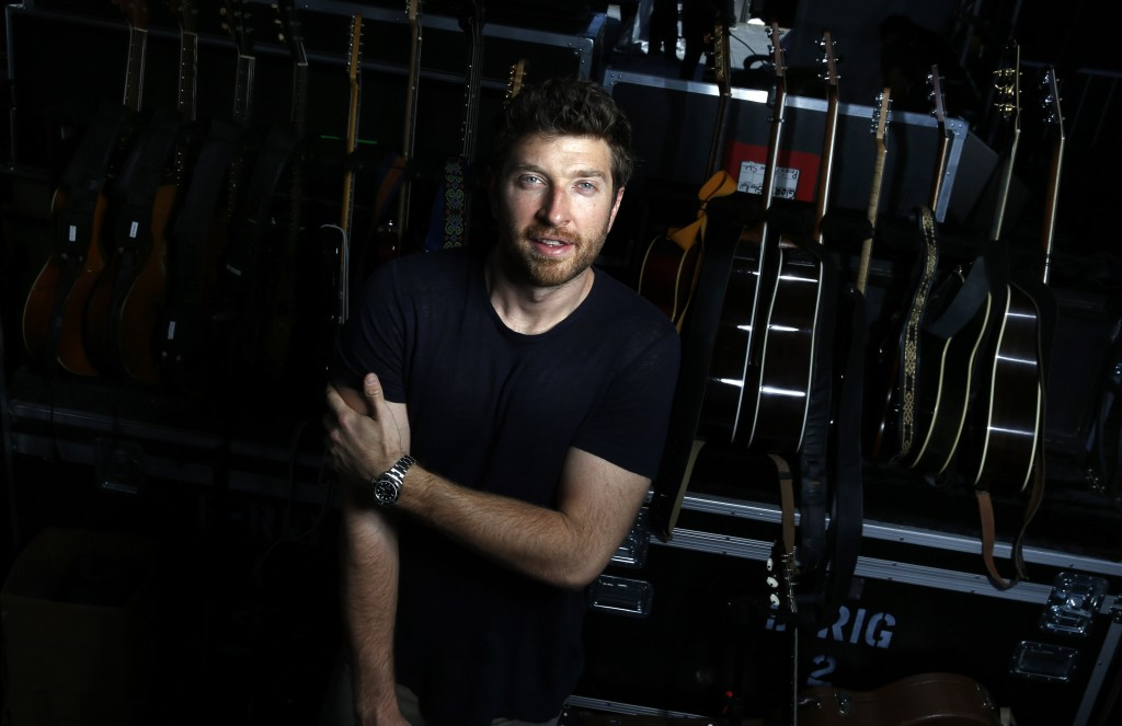 Singer Brett Eldredge poses for a portrait at the 4th ACM Party For A Cause Festival on April 3, 2016 in Las Vegas, Nevada. (Photo by Isaac Brekken/Getty Images for ACM)