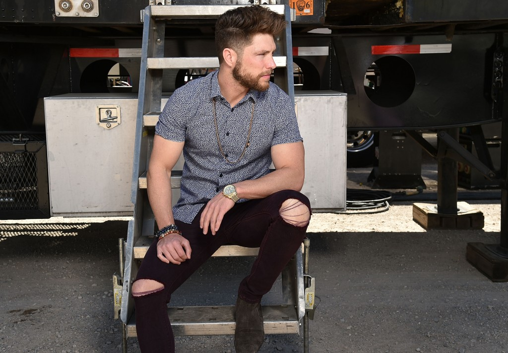 """LAS VEGAS, NEVADA - APRIL 02:  LAS VEGAS, NEVADA:  Singer Chris Lane poses for a portrait at the 4th ACM Party For A Cause Festival on April 2, 2016 in Las Vegas, Nevada.  (Photo by John Shearer/Getty Images for ACM)"""