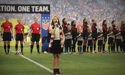 Tegan Marie Turns Heads with Stunning National Anthem Performance in Kansas City