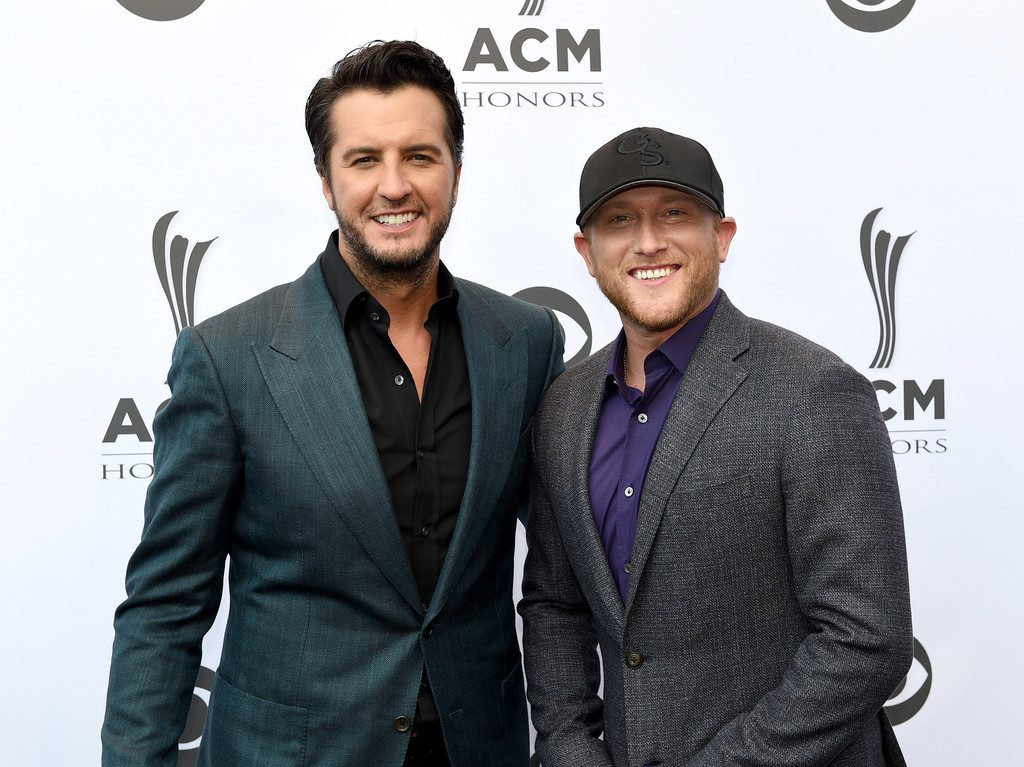 Luke Bryan and Cole Swindell attend 10th Annual ACM Honors at the Ryman Auditorium on August 30, 2016 in Nashville, Tennessee. (Source: Erika Goldring/Getty Images)
