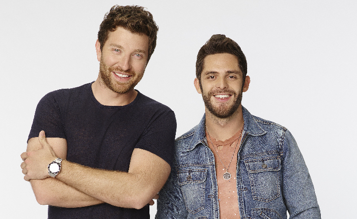 """Brett Eldredge and Thomas Rhett host """"The CMA Music Festival - Country's Night to Rock"""" WEDNESDAY, AUGUST 3 (8:00-11:00 p.m., ET) on the ABC Television Network. (ABC/Craig Sjodin)"""