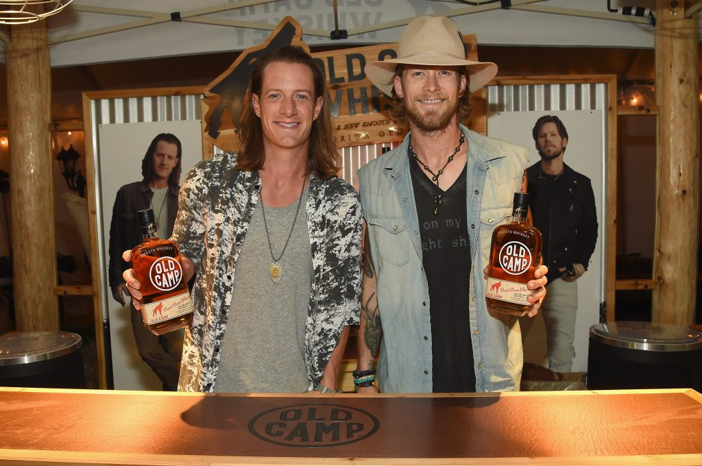 Florida Georgia Line launches Old Camp Peach Pecan Whiskey on August 4, 2016 in Holmdel City.  (Photo by Rick Diamond/Getty Images for Old Camp Peach Pecan Whiskey )