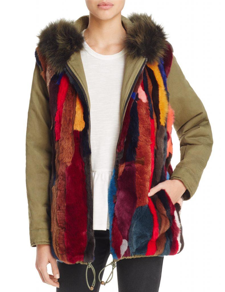 AQUA x Maddie & Tae Reversible Fur Anorak  $498.00